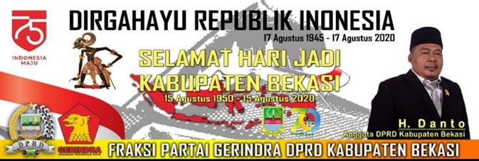 Iklan Aanggota DPRD Bekasi H. Danto