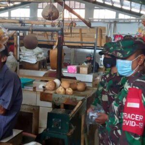 Jajaran Koramil 0621-17 Nanggung Setiap Hari Pantau Area Pasar